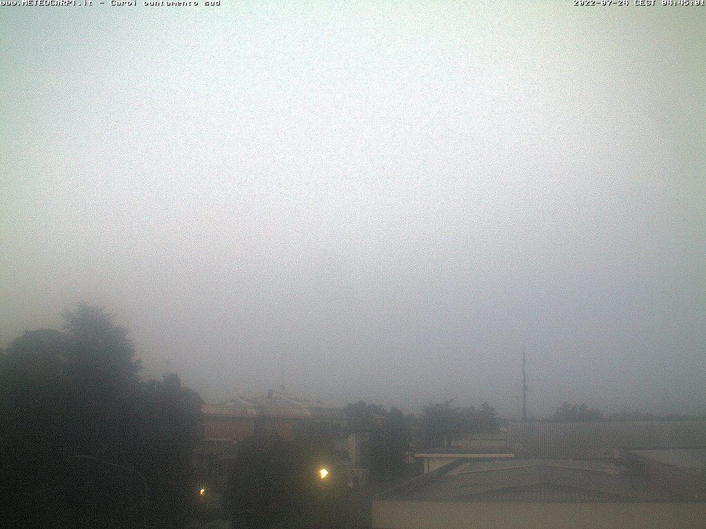 Osservatorio Carpi sud<br>Webcam puntamento sud<br>Loc. Quartirolo - Carpi (MO)