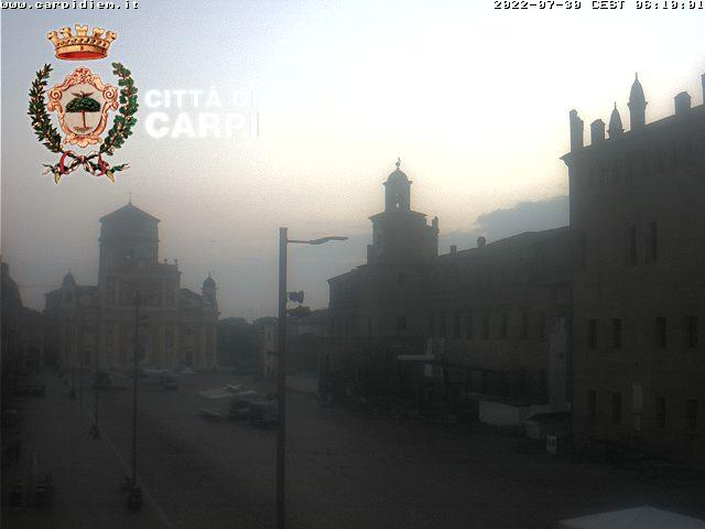 Osservatorio Carpi centro<br>Webcam puntamento nord<br> Carpi (MO)